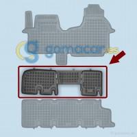 Alfombra de caucho para Renault TRAFIC - Fila 2 - CON ventilación trasera (JL) de 2001 a 2014